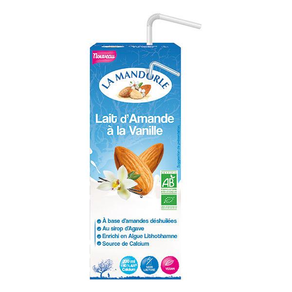 La Mandorle - Lot de 3 Laits d'amande vanille Calcium 3x20cl