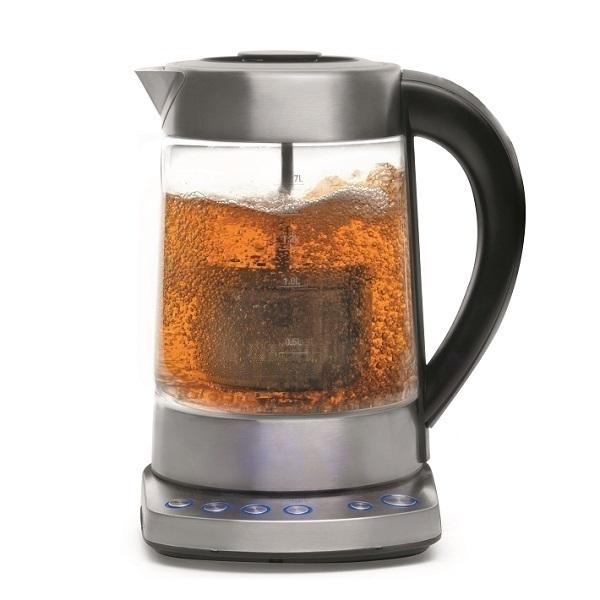 elektrischer wasserkocher glas mit filter 69293 lacor einkaufen auf. Black Bedroom Furniture Sets. Home Design Ideas