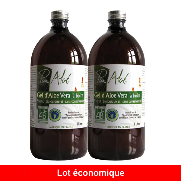 lot de 2 gels boire bio de feuilles d 39 alo vera 2 x 1l pur alo acheter sur. Black Bedroom Furniture Sets. Home Design Ideas
