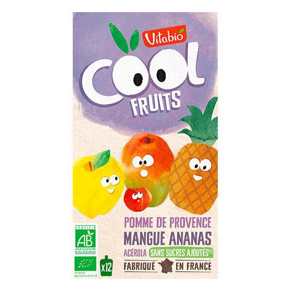 Vitabio - Cool fruits pomme mangue ananas - gourdes de fruits - 12x90g