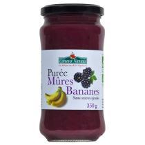 Côteaux Nantais - Purée mûres banane Bio 350g