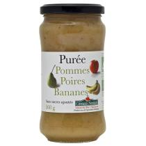 Côteaux Nantais - Purée pommes poires bananes Bio 360g