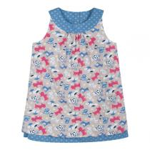 Frugi - Robe réversbile Ada Chien Captain Blue