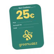 Greenweez.com - Chèque cadeau 25 Euros