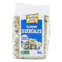 Grillon d'or - Flocons 5 cereales toastees 500g