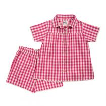 Kite Kids - Pijama shorty Pretty Check 3-6 años