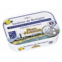 Le phare d'Eckmuhl - Sardines à l'huile d'olive et au citron bio 135g