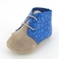 Mon Petit Chausson - Babyschuhe aus Leder Clarck Blau