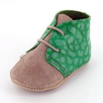 Mon Petit Chausson - Babyschuhe aus Leder Clarck Grün