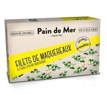 Pain de Mer - Filet de maquereaux à l'huile d'olive 120g/90g
