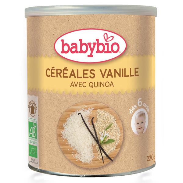 Babybio - Lot Céréales Vanille quinoa dès 6 mois 3x220gr