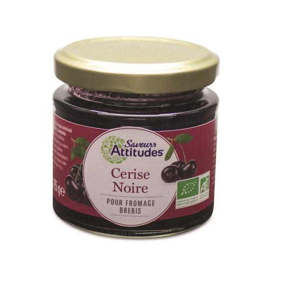 Saveurs Attitudes - Confiture Cerise Noire bio 125 Gr