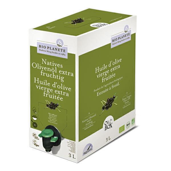 Bio Planète - Huile d'olive vierge extra Fruitée 3L