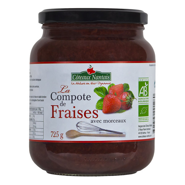 Côteaux Nantais - Compote de fraises 725g