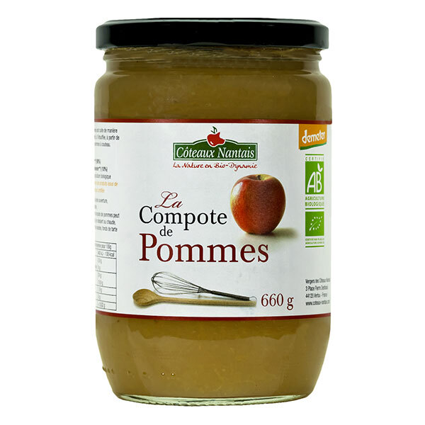 la compote de pommes bio et demeter 660g c teaux nantais acheter sur. Black Bedroom Furniture Sets. Home Design Ideas