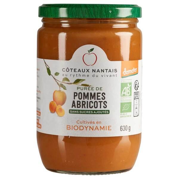 Côteaux Nantais - Purée pommes abricots Demeter 630g
