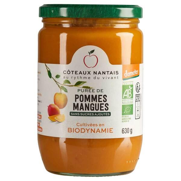Côteaux Nantais - Purée pommes mangues Demeter 630g