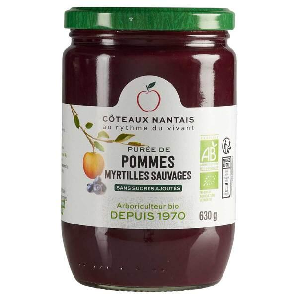 Côteaux Nantais - Purée pommes myrtilles 630g