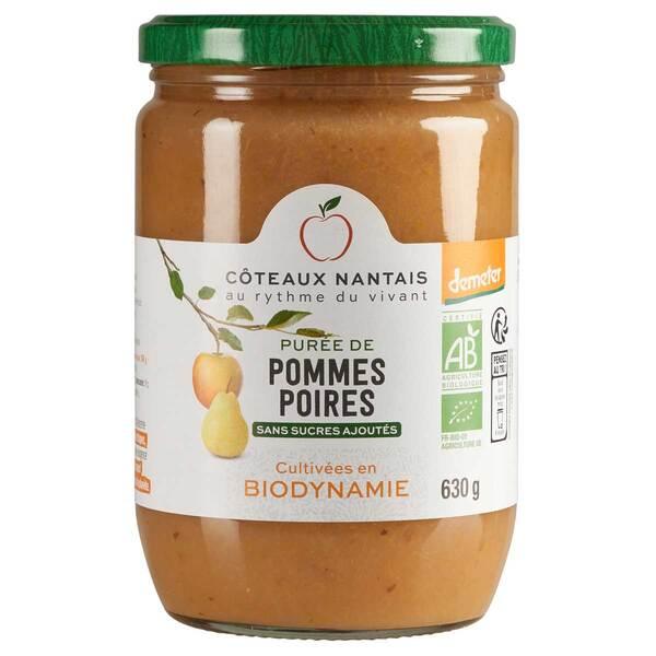 Côteaux Nantais - Purée pommes poires Demeter 630g