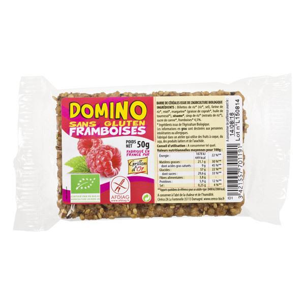 Grillon d'or - Domino sans gluten framboises 50g