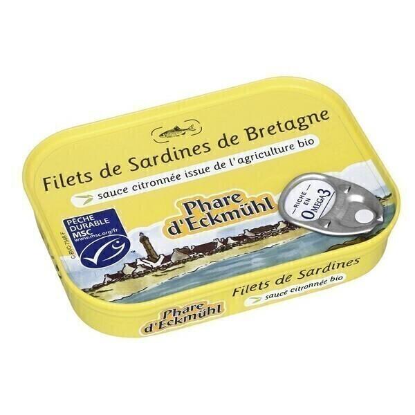 Le phare d'Eckmuhl - Filets de sardines à la sauce citronnée 90g