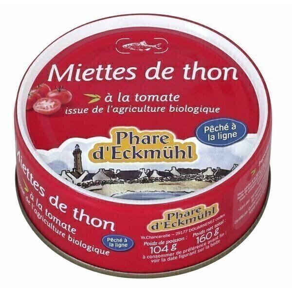 Le phare d'Eckmuhl - Miettes de thon à la tomate bio 160g