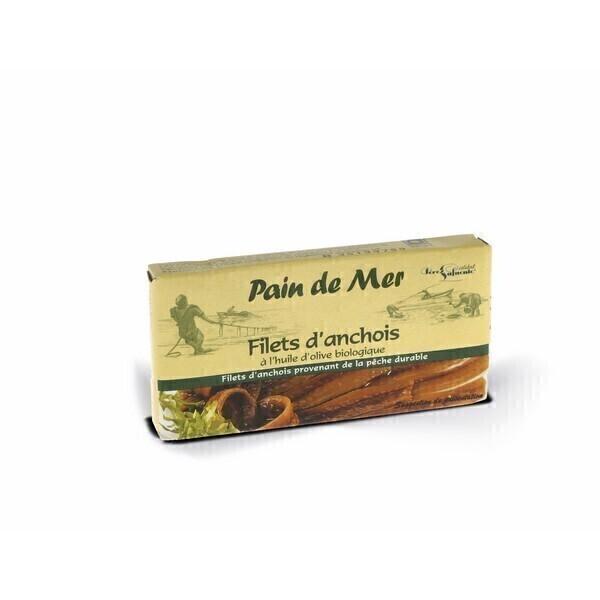 Pain de Mer - filets d'anchois à l'huile d'olive 50gr