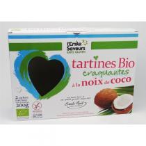 L'Emile Saveurs - Tartines sans gluten noix de coco bio (2x100gr)