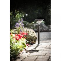 Galix - Garten-Solarlampe aus ABS, Aluminium+Edelstahl
