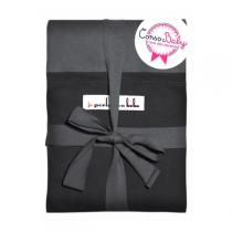 Je porte mon bébé - JPMBB Original Stretchy Wrap Charcoal Grey & Black