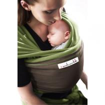 Je porte mon bébé - JPMBB Original Stretchy Wrap Pistachio & Brown