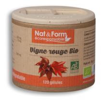 Nat & Form - Vigne Rouge Bio 120 Gél. 250 Mg