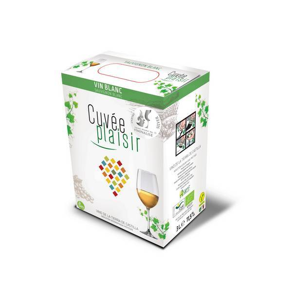 Wines Cuvée Plaisir & Désir - Cuvée Plaisir White Wine Sauvignon Blanc 3L BIB
