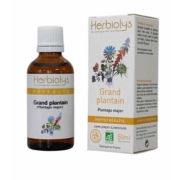 Herbiolys - Grand plantain 50mL BIO - Plantago major
