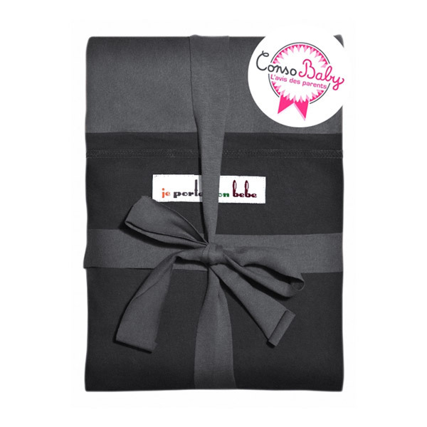 echarpe de portage originale anthracite poche noire je porte mon bebe la. Black Bedroom Furniture Sets. Home Design Ideas