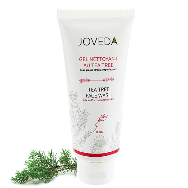 gel nettoyant tea tree 120ml joveda acheter sur. Black Bedroom Furniture Sets. Home Design Ideas
