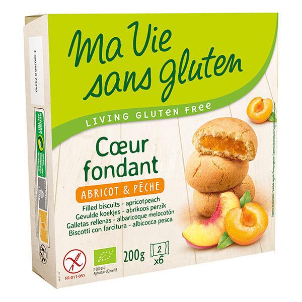 Ma Vie Sans Gluten - Coeurs fondants abricot pêche 200g