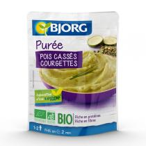 Bjorg - Doypack Puree pois casses courg 250g