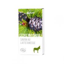 Direct Nature - Savonnette Lait d'ânesse Bio Cedre Patchouli 100 g