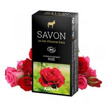 Direct Nature - Savonnette Lait d'ânesse Bio Rose 100 g