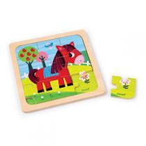Janod - Puzzle cheval tornado