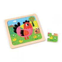 Janod - Puzzle poule violette
