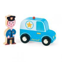 Janod - Story set city voiture de police + policier