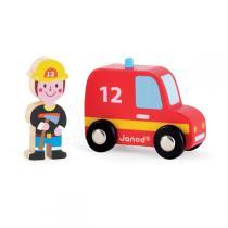Janod - Story set pompiers voiture + pompier