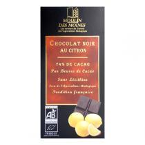 Moulin des Moines - Chocolat noir 74% bio au citron - 100g