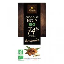 Moulin des Moines - Chocolat noir 74% bio aux amandes entières - 100g