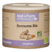 Nat & Form - Curcuma bio 120 gélules