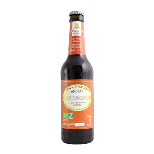 Moulin des Moines - Bière ambrée Castagnor - 33cl