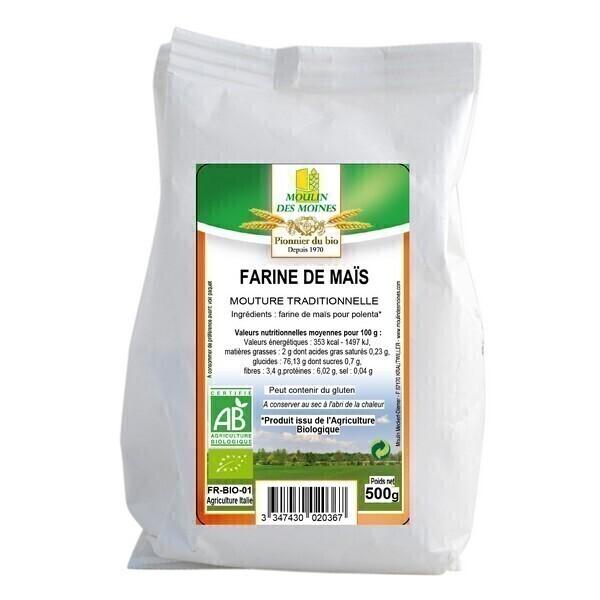 Moulin des Moines - Farine de maïs bio - 500g