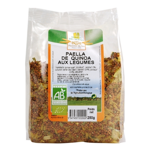 pa lla de quinoa aux l gumes 250g moulin des moines acheter sur. Black Bedroom Furniture Sets. Home Design Ideas